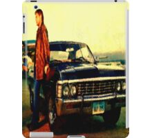 supernatural tv dean baby impala fan art iPad Case/Skin