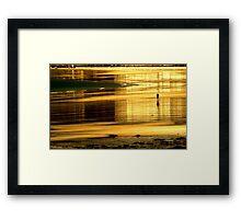 Beach runner Framed Print