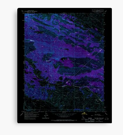 USGS TOPO Map California CA The Dark Hole 300853 1961 24000 geo Inverted Canvas Print