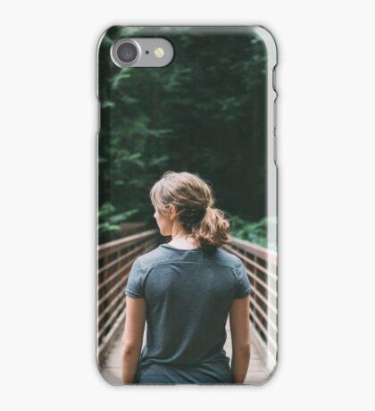 Girl on a Bridge iPhone Case/Skin