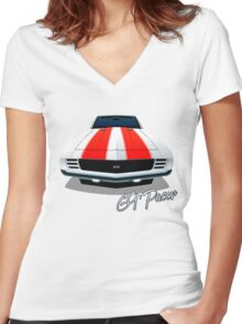 1969 Camaro SS - Indy 500 Pace Car Women's Fitted V-Neck T-Shirt
