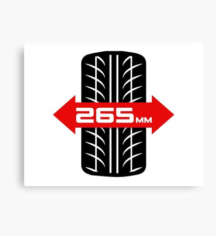 265mm Wide Tires Canvas Print
