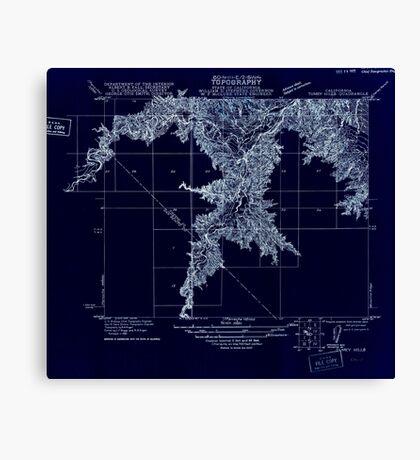 USGS TOPO Map California CA Tumey Hills 296568 1921 31680 geo Inverted Canvas Print