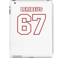 NFL Player Josh LeRibeus sixtyseven 67 iPad Case/Skin