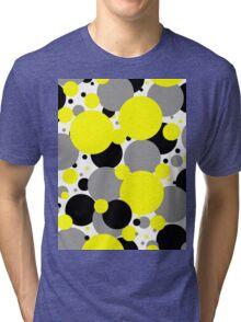 Yellow Polka Dots Tri-blend T-Shirt