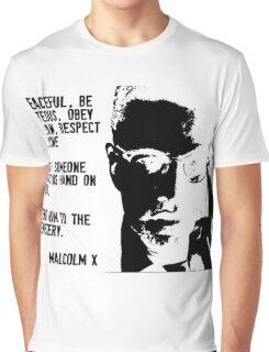 Malcom X Be Peaceful Graphic T-Shirt