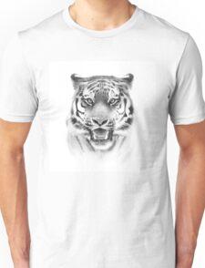 Tiger face on white Unisex T-Shirt