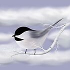 Chickadee in the Winter by Megan Stone