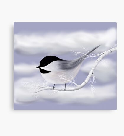 Chickadee in the Winter Canvas Print