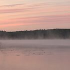 Dusky dawn by a lake by Susanna Hietanen