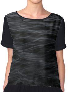 Black Waves Pattern Chiffon Top