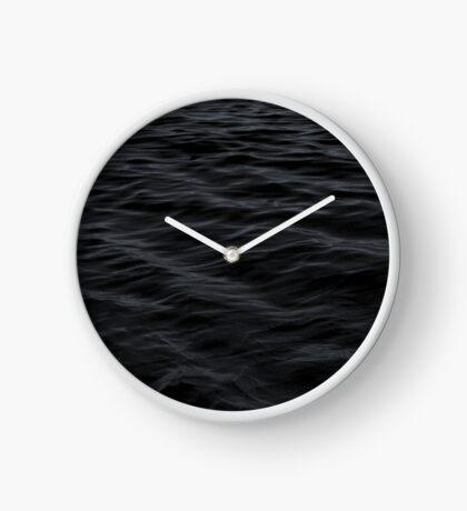 Black Waves Pattern Clock