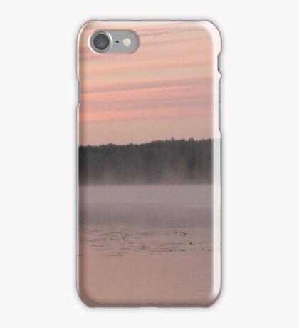 Dusky dawn by a lake iPhone Case/Skin