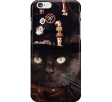 Steampunk Funny Cute Cat iPhone Case/Skin