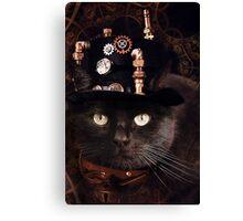 Steampunk Funny Cute Cat Canvas Print