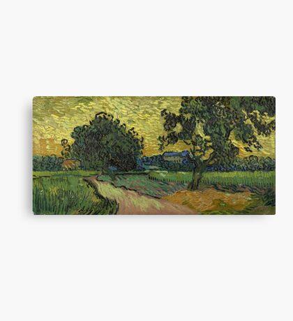 Vincent Van Gogh - Landscape At Twilight 1890 Canvas Print