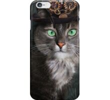Steampunk Funny Cute Cat 3 iPhone Case/Skin