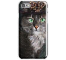 Steampunk Funny Cute Cat 3 iPhone Case/Skin