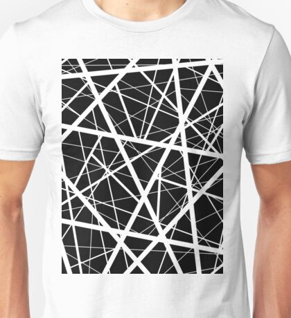 Black and White Criss Cross Unisex T-Shirt