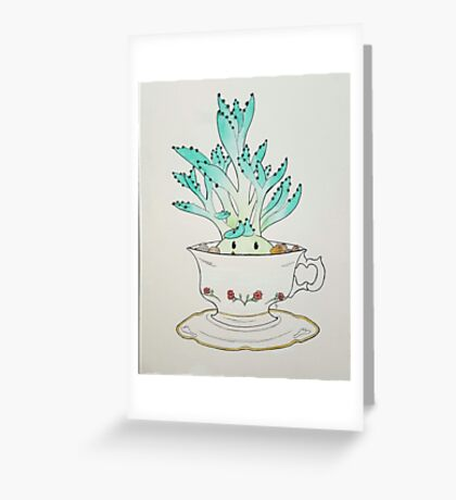 Cute Succulent  Greeting Card