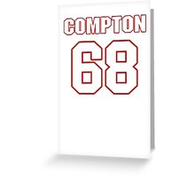 NFL Player Tom Compton sixtyeight 68 Greeting Card