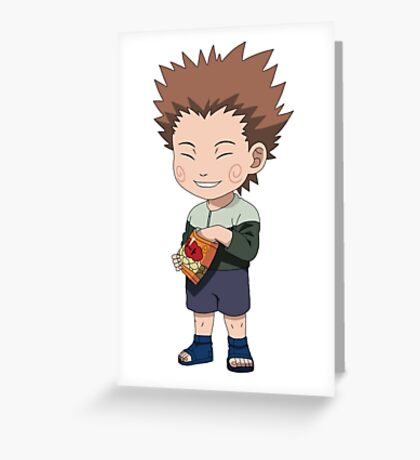 Naruto Chogi Akimichi  Greeting Card