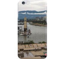 Granville Island with Vancouver back ground iPhone Case/Skin
