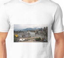 Granville Island with Vancouver back ground Unisex T-Shirt