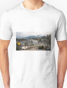 Granville Island with Vancouver back ground T-Shirt