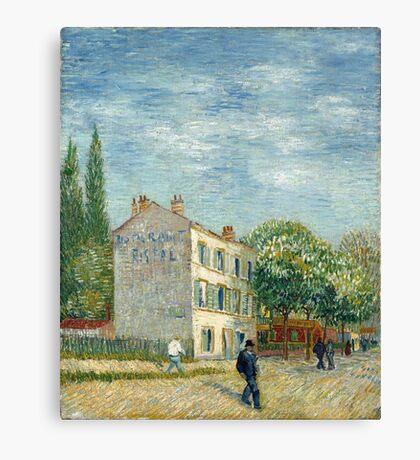 Vincent Van Gogh - The Rispal Restaurant At Asnieres 1887 Canvas Print