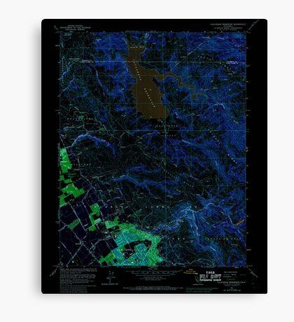 USGS TOPO Map California CA Calaveras Reservoir 288773 1961 24000 geo Inverted Canvas Print