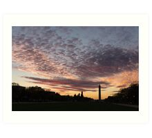 Washington National Mall Skyline and a Spectacular Sky Art Print
