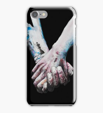 Love Is Coal (for dark background) iPhone Case/Skin