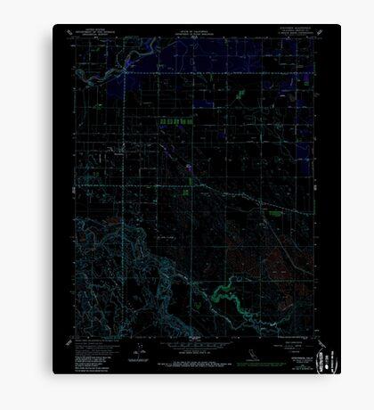 USGS TOPO Map California CA Stevinson 295311 1961 24000 geo Inverted Canvas Print