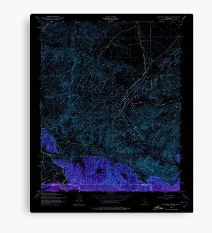 USGS TOPO Map California CA Santiago Creek 300331 1943 24000 geo Inverted Canvas Print