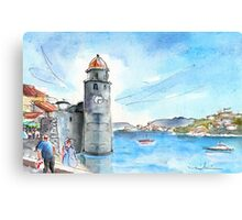 Collioure Tower Canvas Print