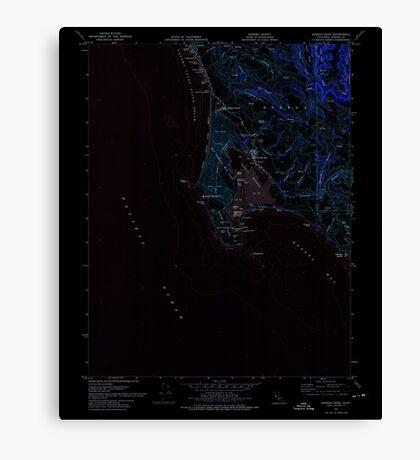 USGS TOPO Map California CA Bodega Head 288525 1972 24000 geo Inverted Canvas Print