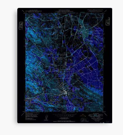 USGS TOPO Map California CA Walnut Creek 301186 1949 24000 geo Inverted Canvas Print