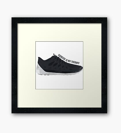 Exercise is my Therapy Framed Print