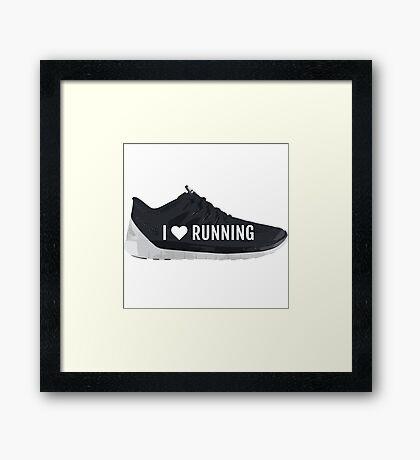 I Heart Running Framed Print