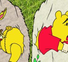 Pooh gets bit Sticker