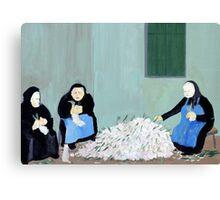 Greek Painting Garlic Canvas Print