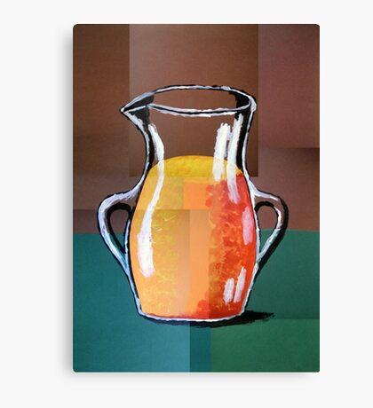 Vincent Van Gogh-Vase mit Orangensaft (Acryl-Malerei) Canvas Print