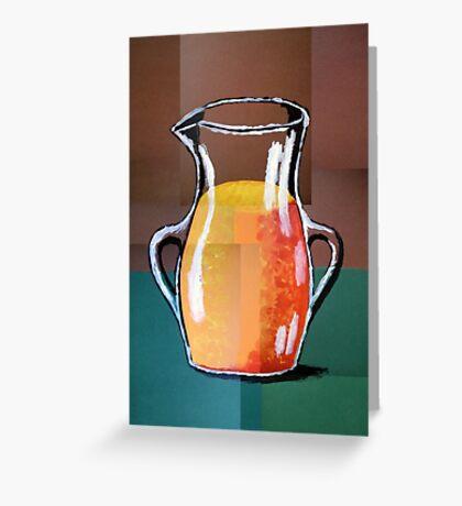 Vincent Van Gogh-Vase mit Orangensaft (Acryl-Malerei) Greeting Card