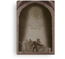 The Hunchback of Notre Dame inspired design. Canvas Print