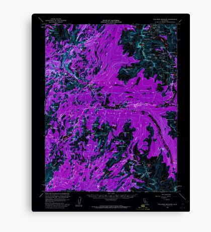 USGS TOPO Map California CA Tuolumne Meadows 301884 1956 62500 geo Inverted Canvas Print