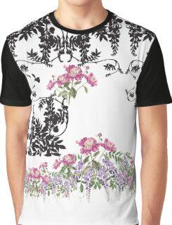 White Florals Graphic T-Shirt