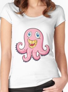 Octopus Smile Women's Fitted Scoop T-Shirt