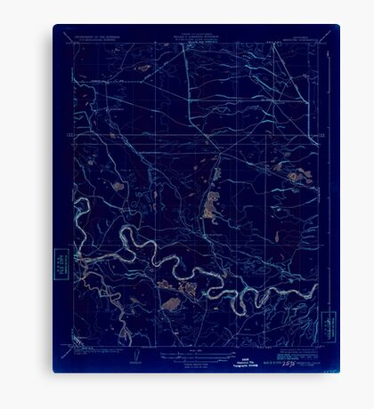 USGS TOPO Map California CA Mendota 296300 1924 31680 geo Inverted Canvas Print