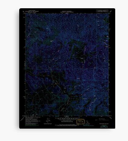USGS TOPO Map California CA Tehachapi NE 295399 1966 24000 geo Inverted Canvas Print